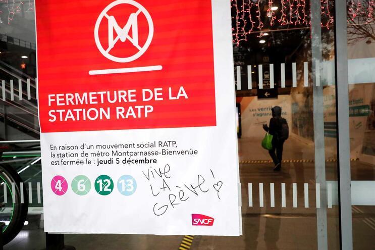 RATP, empresa dos transportes de Paris, prevê que a maior parte das linhas do metro estejam fechadas