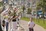 Cordões humanos protestaram contra as eleições e a violência da repressão