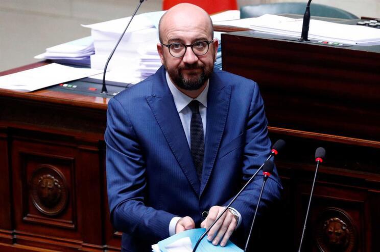 O primeiro-ministro belga Charles Michel