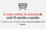 As novas medidas de contenção da covid-19 concelho a concelho
