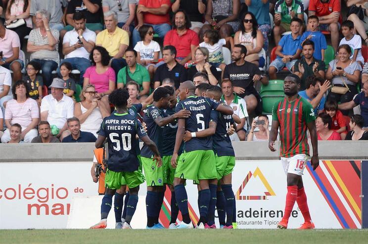 O onze do Sporting para o jogo com o Braga