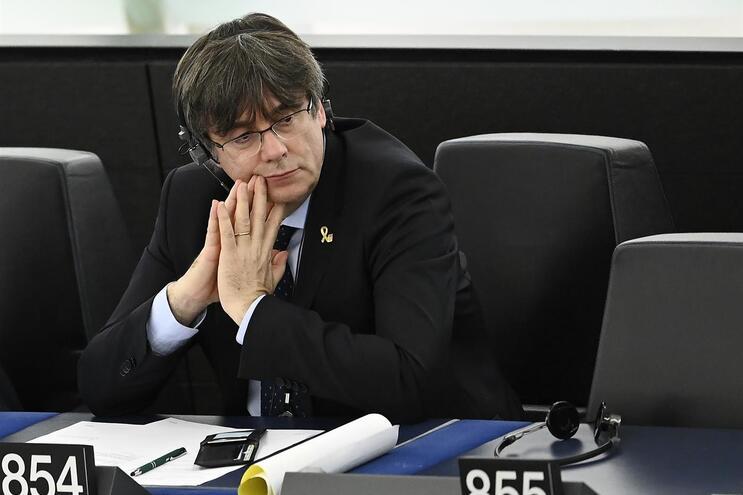 Puigdemont no Parlamento Europeu