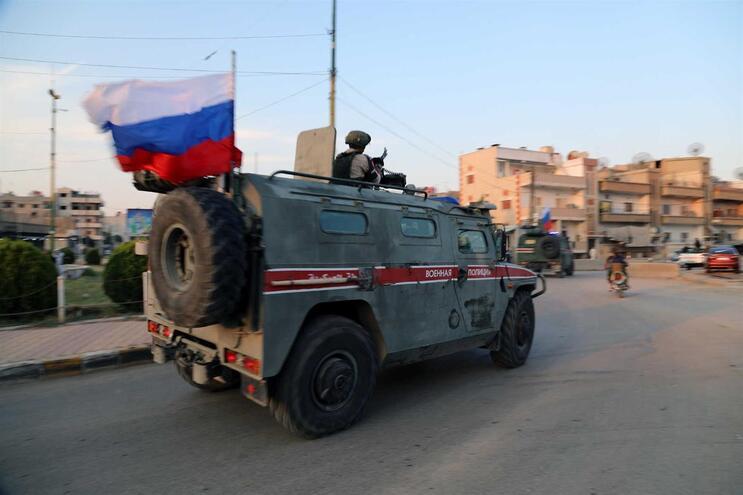 Militares russos no norte da Síria