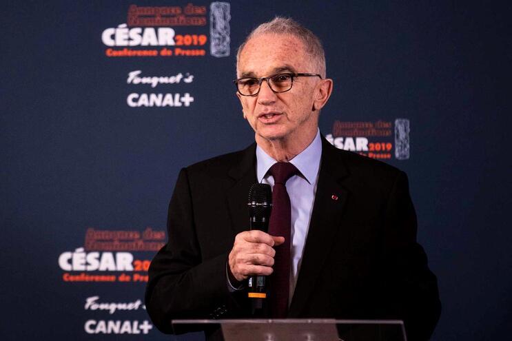 Alain Terzian era o presidente da Academia do cinema francês