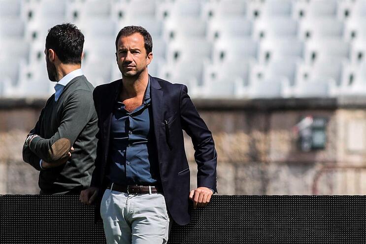 Sporting treinou no Jamor com Frederico Varandas no relvado