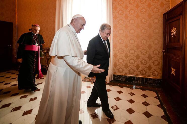 Papa Francisco e António Guterres denunciam os males do mundo