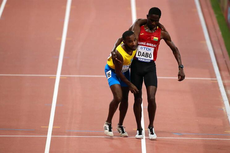 Braima Dabó protagonizou um dos melhores momentos no Mundial de Atletismo