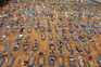 Imagem aérea do cemitétio de Nossa Senhora Aparecida, em Manaus, no Brasil
