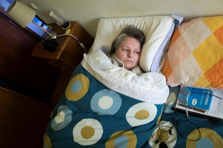 Dulce Moreira, 58 anos, sofre de fibromialgia