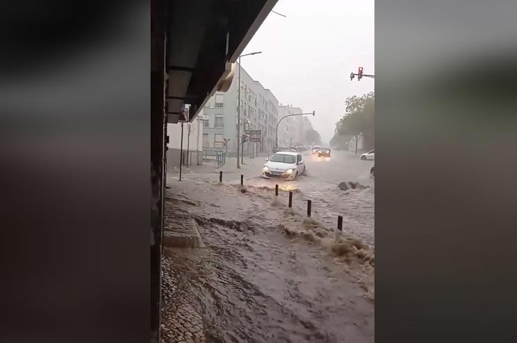 As inundações não afetaram casas