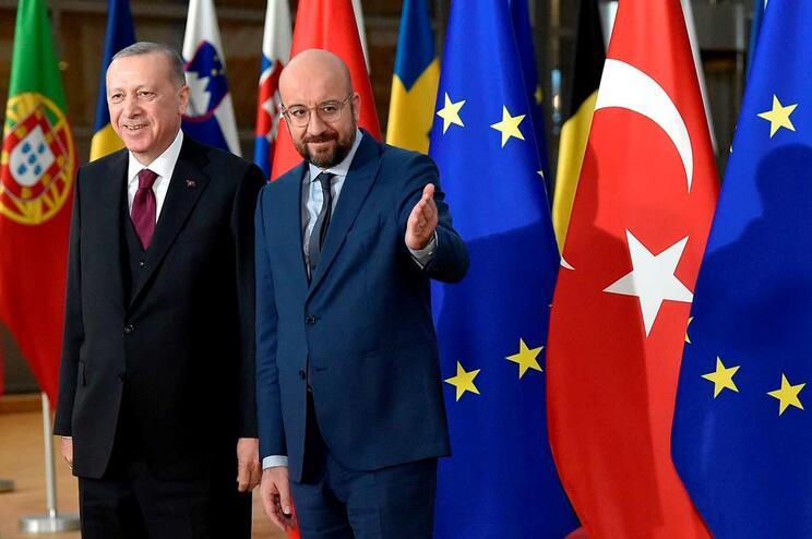 Recep Tayyip Erdogan esteve em Bruxelas
