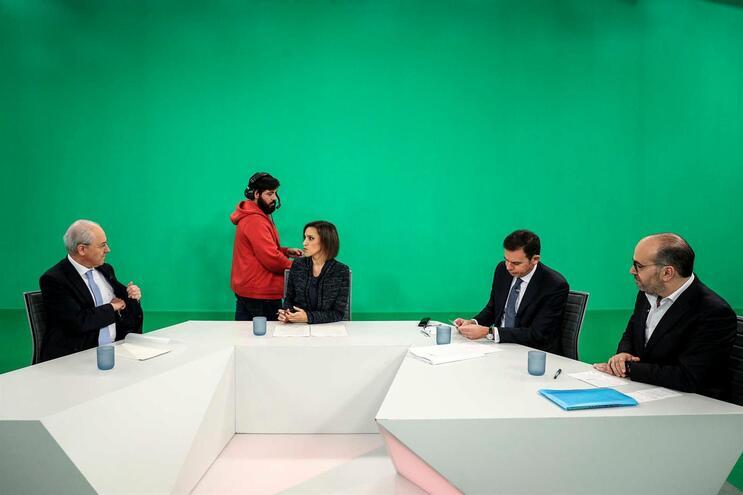 Debate com os candidatos à liderança do Partido Social Democrata (PSD) Rui Rio, Luis Montenegro e Miguel