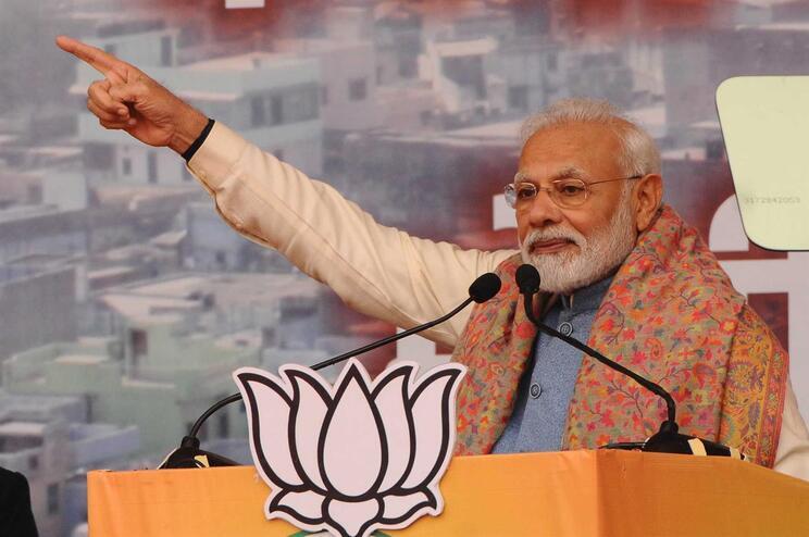 """Muçulmanos nascidos na Índia """"não precisam de se preocupar"""" , diz primeiro-ministro"""