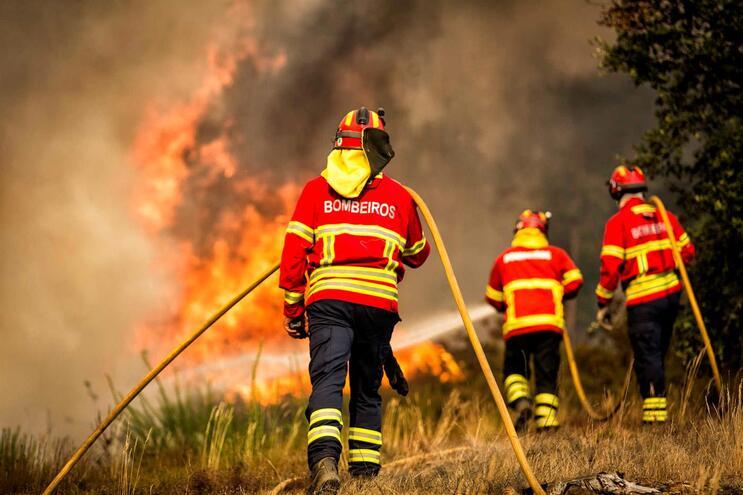 Mais de 240 bombeiros e oito meios aéreos combatem fogo em Rio Maior