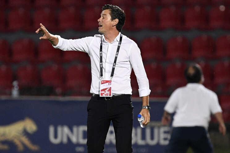 O treinador do Desportivo das Aves, Nuno Manta Santos