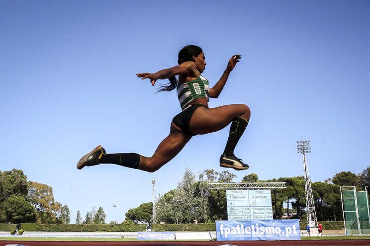 A atleta Patrícia Mamona, 11 vezes campeã nacional de triplo salto