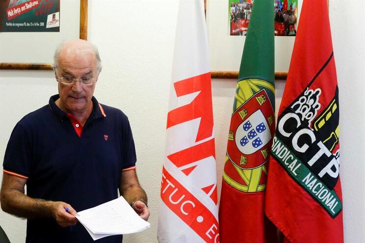 Secretário-geral da CGTP Intersindical, Arménio Carlos