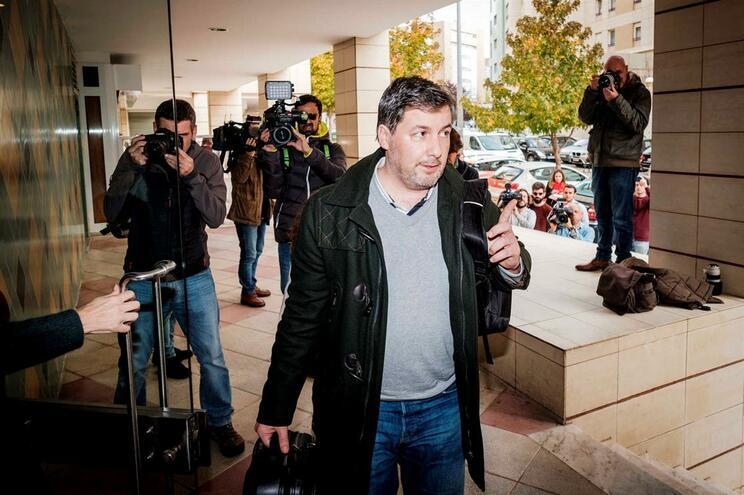 Bruno de Carvalho quando foi libertado a 15 de novembro