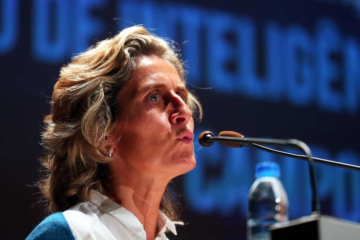 A ministra da Coesão, Ana Abrunhosa