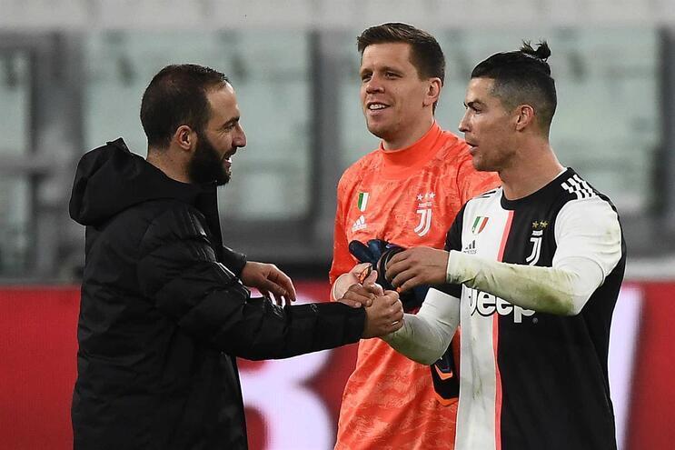 Cristiano Ronaldo no jogo frente ao Inter