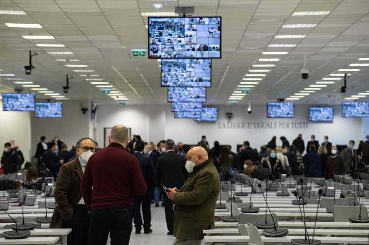Sala foi convertida para receber megajulgamento da máfia 'Ndrangheta