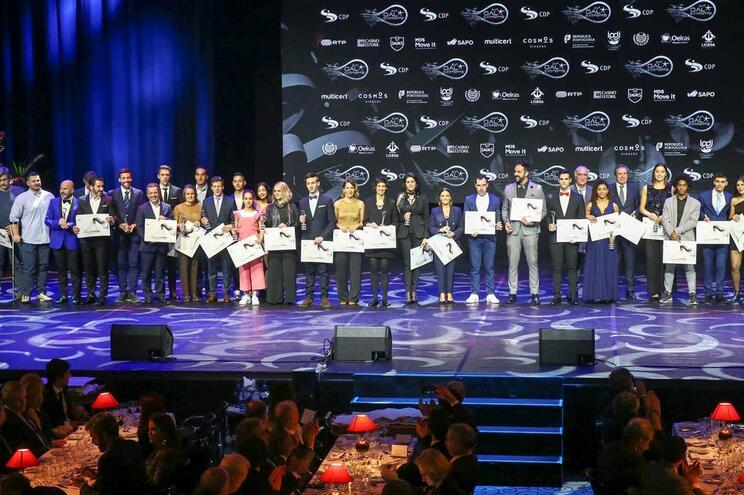 Os vários premiados da noite