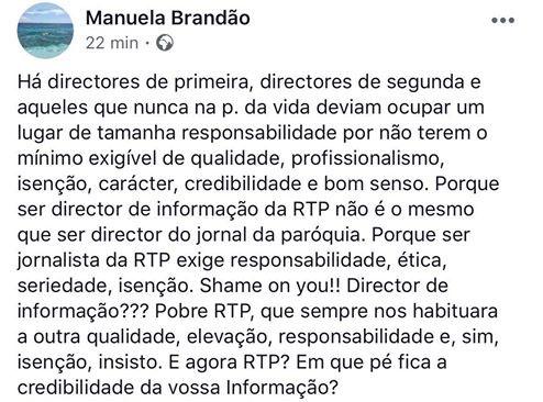 Reação de Manuela Brandão, da Gestifute