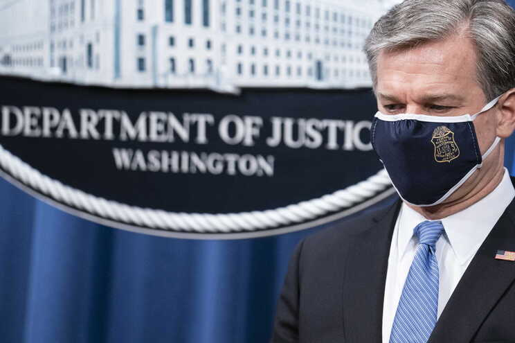 O diretor do FBI, Christopher Wray