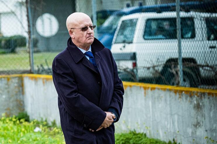 Luís Vieira, ex-diretor da Polícia Judiciária Militar (PJM), à chegada ao Tribunal de Monsanto