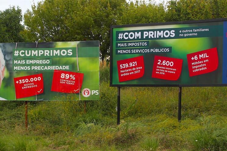 """Depois dos """"Três Cartazes à Beira da Estrada"""", Iniciativa Liberal volta a picar PS"""