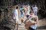 Populares e associações de animais salvaram os sobreviventes, após incêndio que matou pelo menos 73 animais