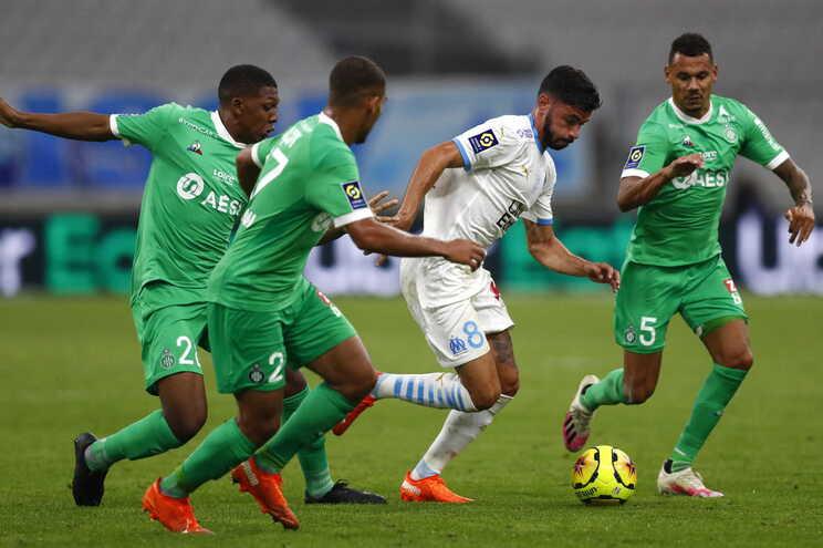 Marselha perdeu com o Saint-Étienne