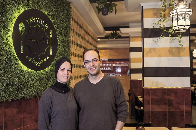 Casal de refugiados, responsável pelo novo restaurante - Tayybeh na rua de Moscavide