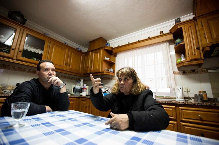 Celeste Silva, viúva, e José Monteiro, primo e afilhado da vítima