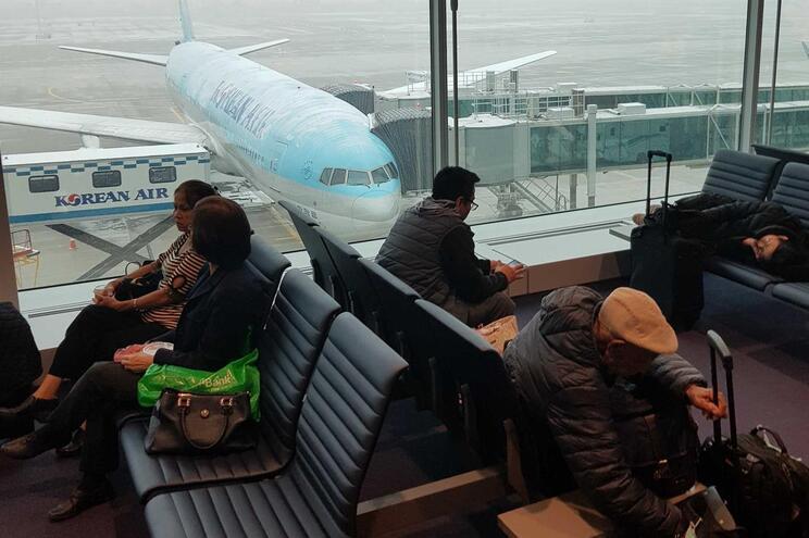 Aeroporto Incheon em Seul, Coreia do Sul