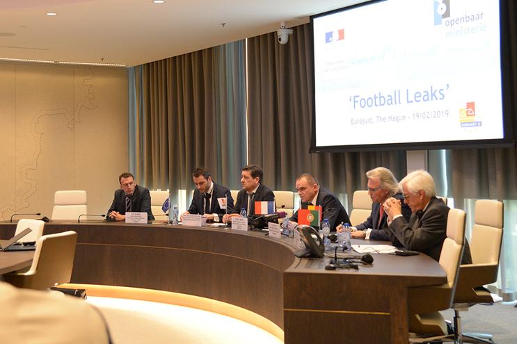 Conferência de imprensa após reunião no Eurojust que discutiu troca de informações no caso Football Leaks