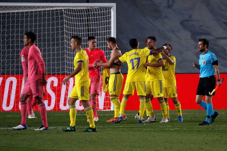 O Real Madrid perdeu este sábado