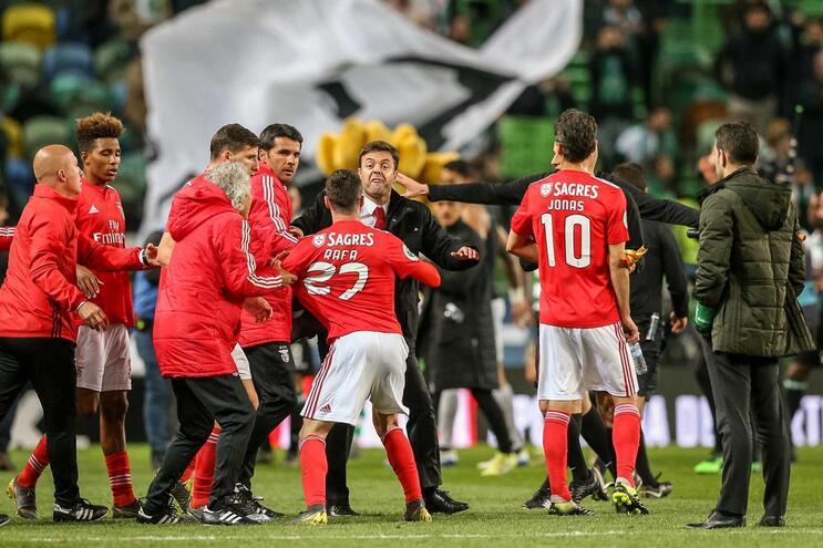 Rafa foi expulso no final do dérbi com o Sporting para a Taça