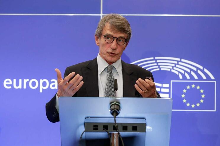 O presidente do Parlamento Europeu David Sassoli
