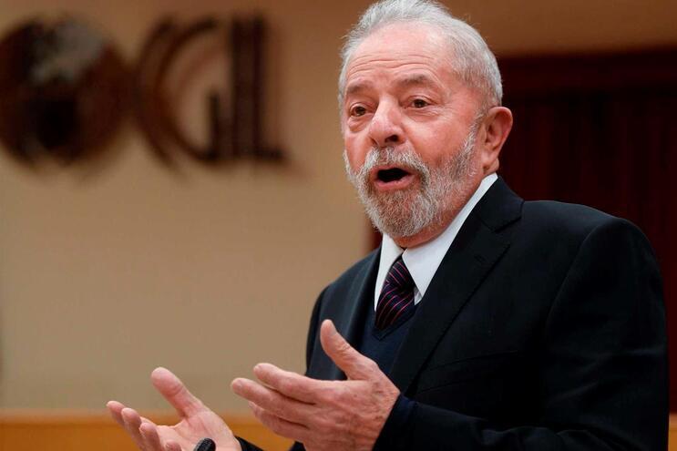 O ex-presidente brasileiro Lula da Silva esta quinta-feira em Roma
