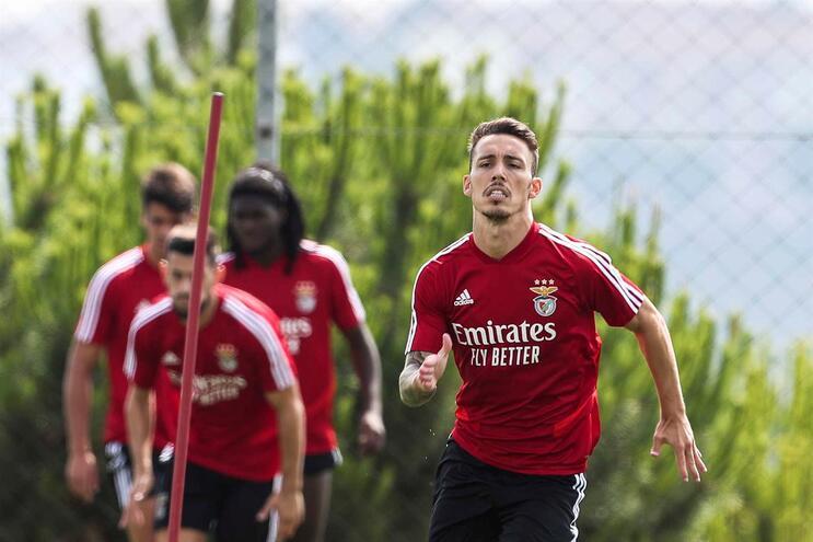 """Grimaldo: """"A minha cabeça está no Benfica. Não penso em mais nada"""""""