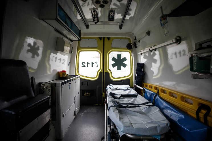 O ferido foi transportado para o Hospital de Setúbal