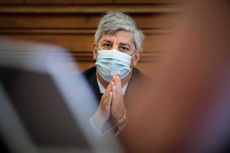 O ex-ministro das Finanças Mário Centeno foi esta quarta-feira ouvido na comissão de Orçamento e Finanças