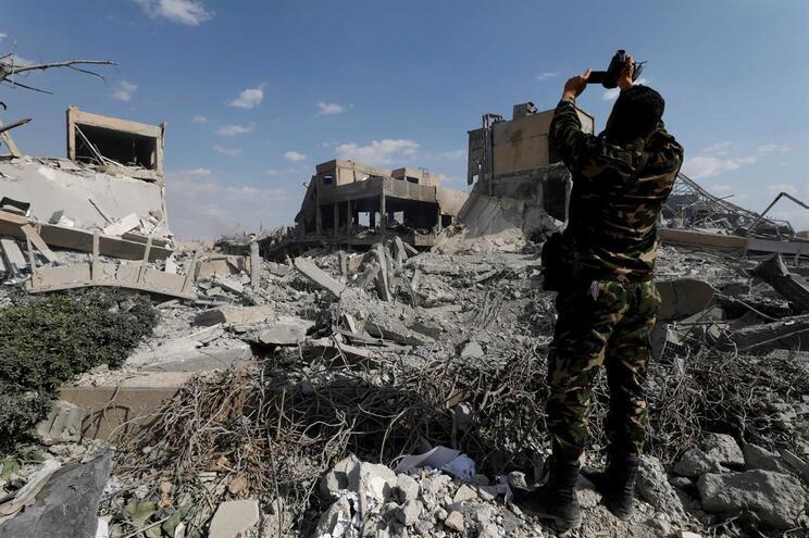 Centro de investigação onde seriam produzidas armas químicas na Síria