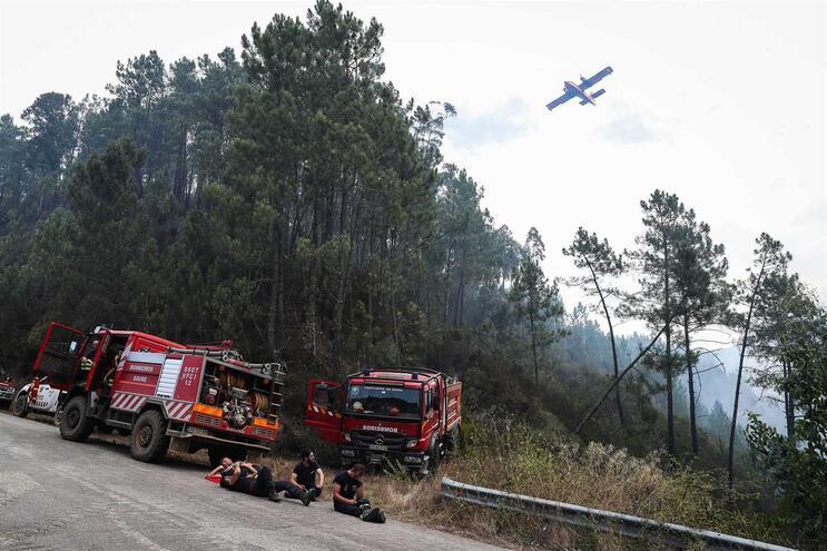 """Dominado fogo em Miranda do Corvo após """"precipitação intensa no local"""""""
