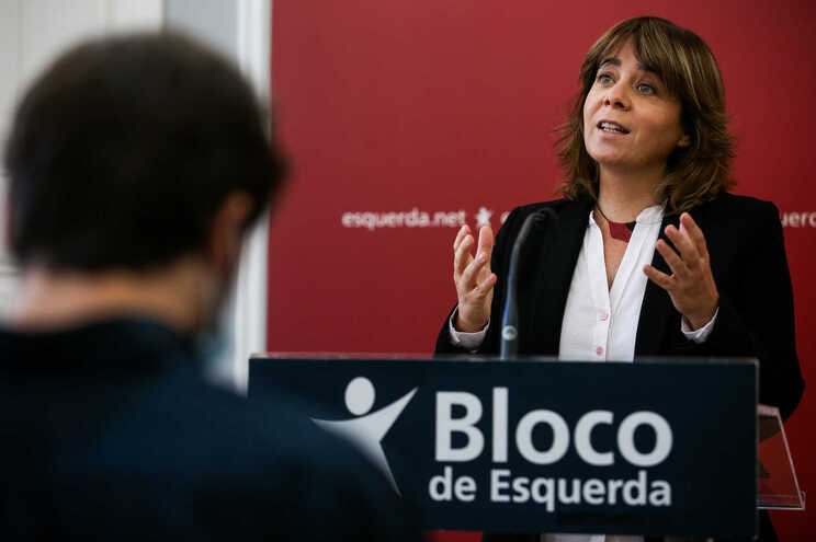 A coordenadora nacional do Bloco de Esquerda, Catarina Martins