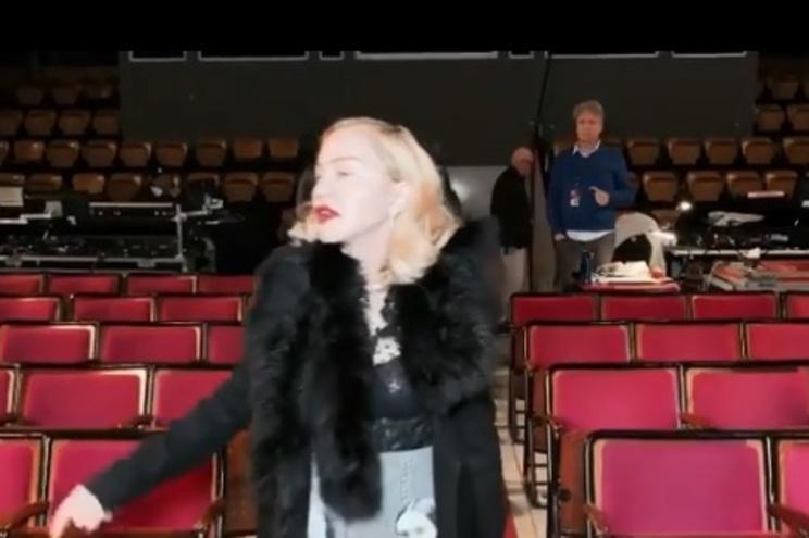 """Madonna faz """"inspeção"""" ao Coliseu dos Recreios antes dos concertos"""