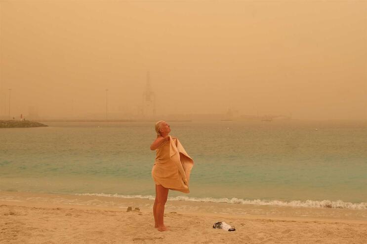 É este o cenário em Chica Beach, Puerto del Rosario, Fuerteventra
