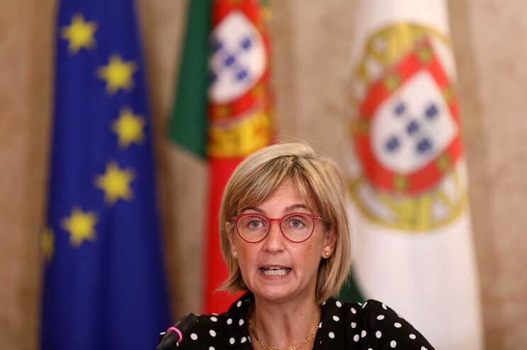 Marta Temido numa audição na Comissão de Saúde, no Parlamento, esta quarta-feira