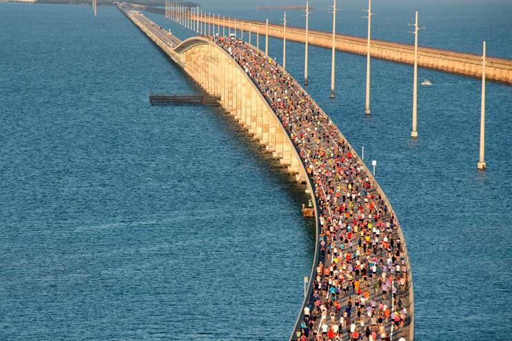 As sete milhas das pontes das Florida Keys